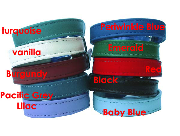 """Plain & Simple"" Cat Collars - Holly & Lil Collars Handmade in Britain, Leather dog collars, leads & Dog harnesses."
